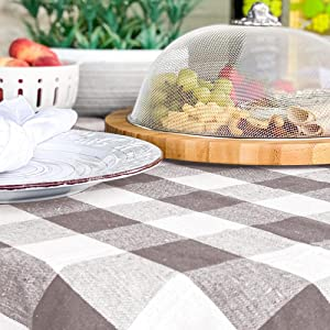 buffalo plaid tablecloth round 70 inch