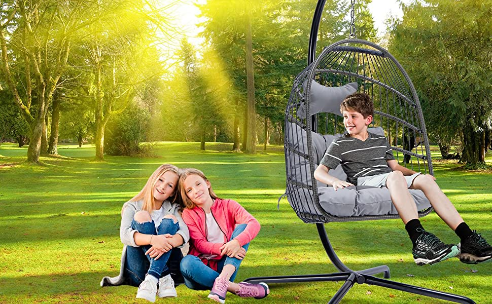 egg chair with stand swing chair with stand hanging chair with stand and cushion