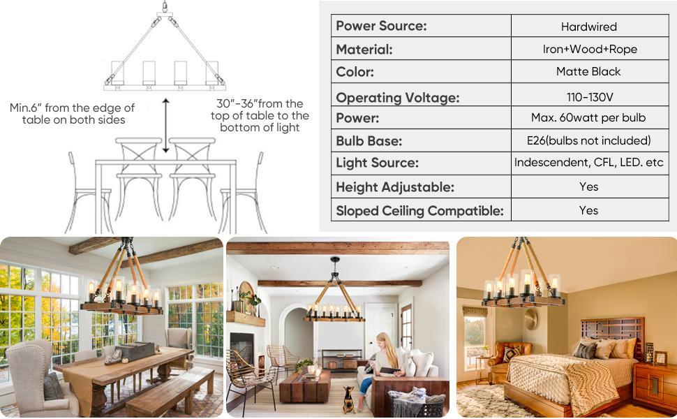 shine decor farmhouse chandelier
