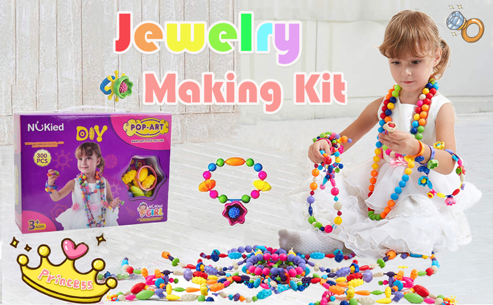 Ownew.Too 300pcs pop beads Jewelry Making Kit