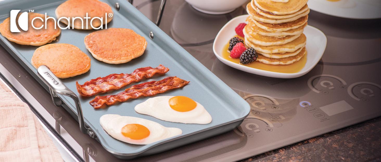 sync burner brunch breakfast dinner triply induction fish burgers steak pancakes bacon design style