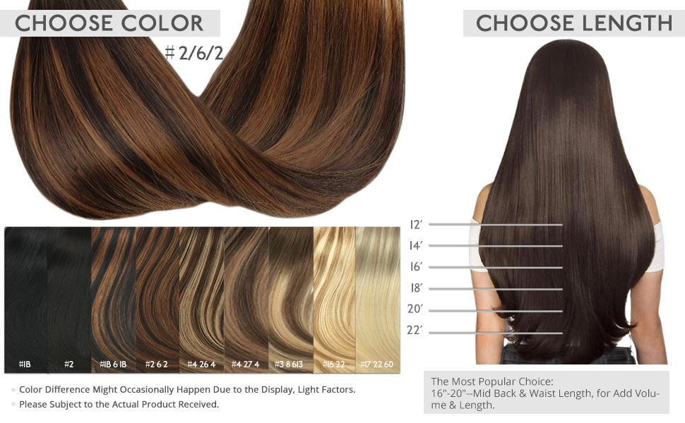 ombre extensions clip in