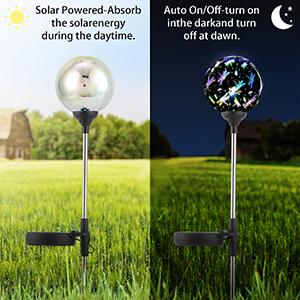 decorative garden stakes light,glass decorations garden,led garden balls stake,outdoor solar lights