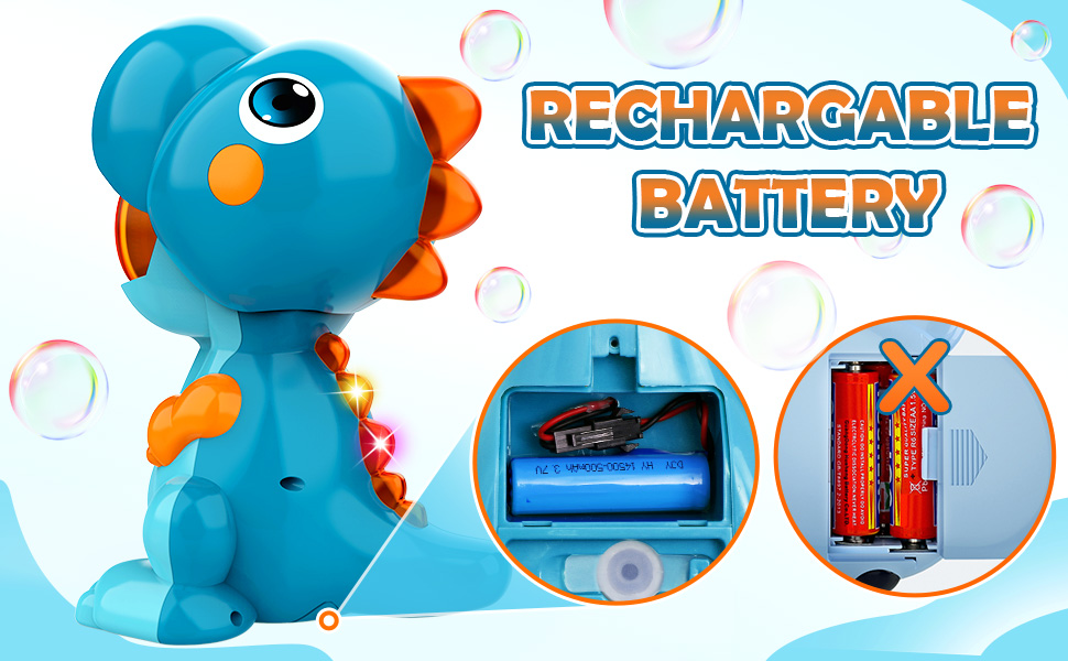 rechargable bubble machine