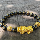 Black Obsidian bead