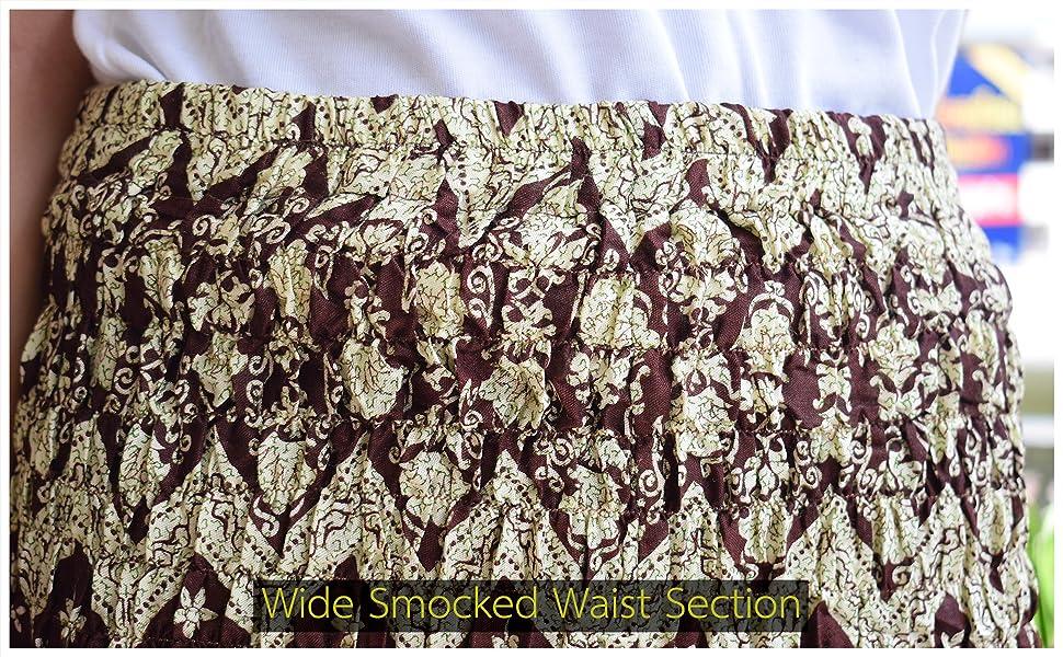 Wide Smocked Waist