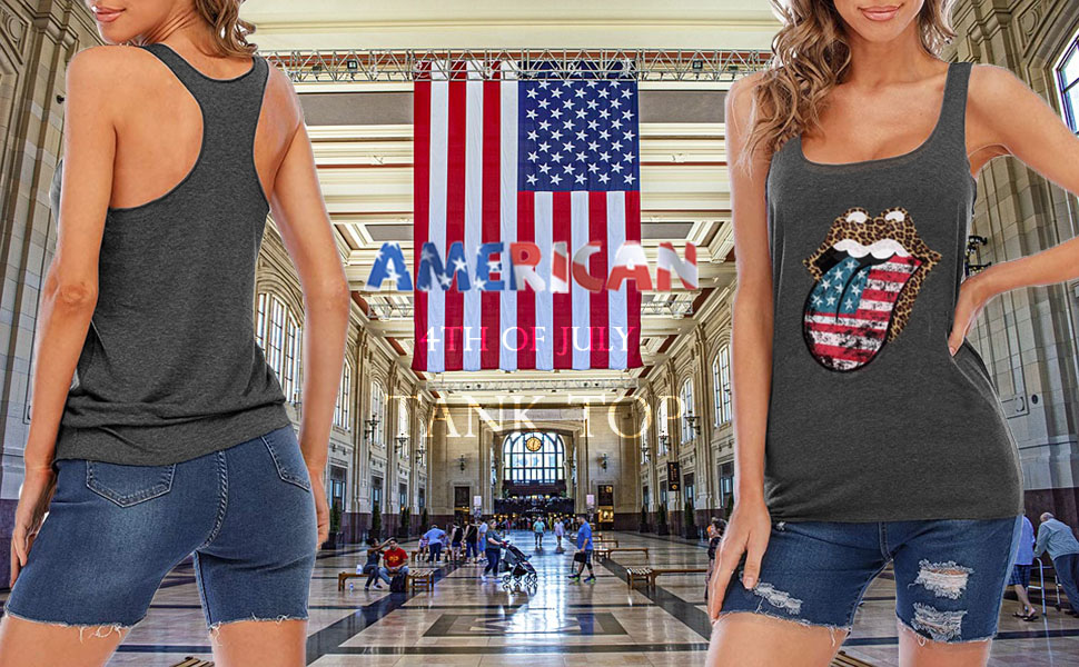American Flag Tank Top for Women