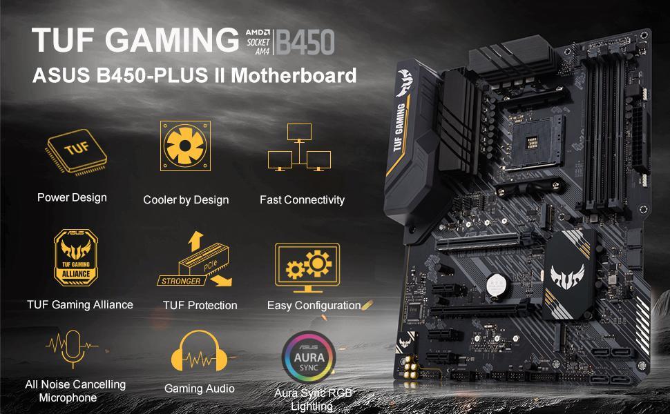 ASUS TUF Gaming B450-PLUS II MB