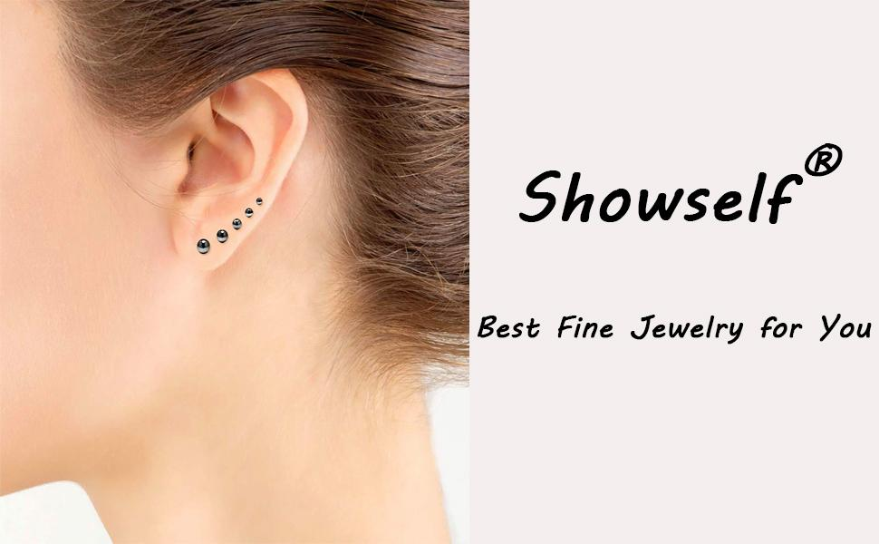 Safe for Sensitive Ear 20G Tiny Cartilage Piercing Earrring Pack of 6 Pairs 14K Gold Filled Polished Ball Stud Earrings Set