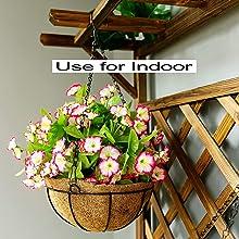 plant baskets indoor with liner indoor storage shelves hanging baskets for plants hanging basket