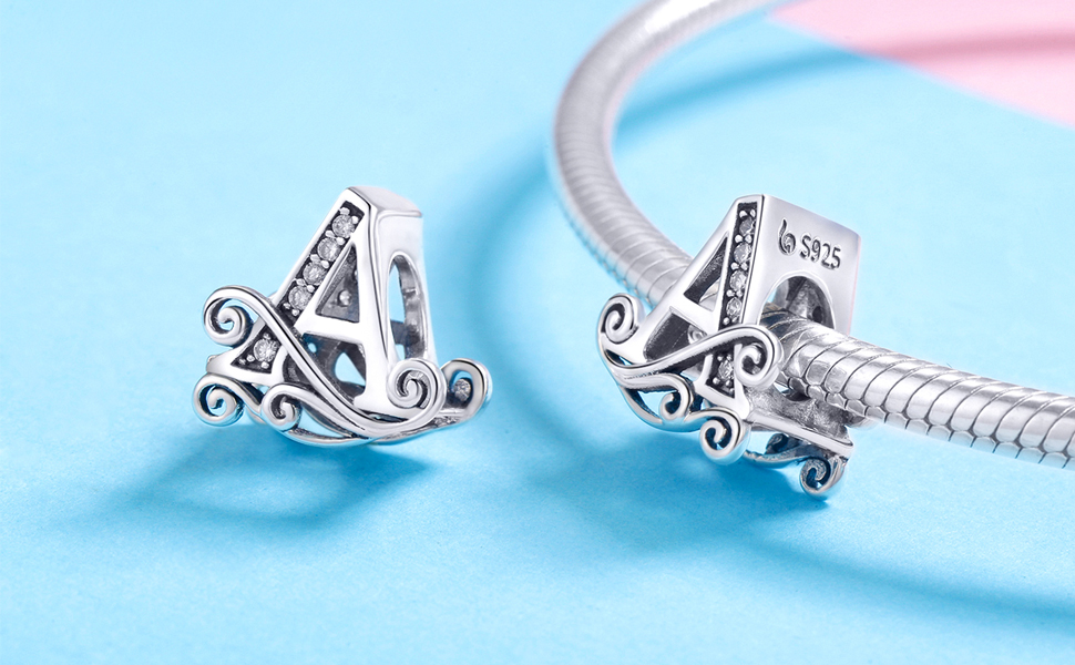 TIZU Charms Lettere in Argento 925