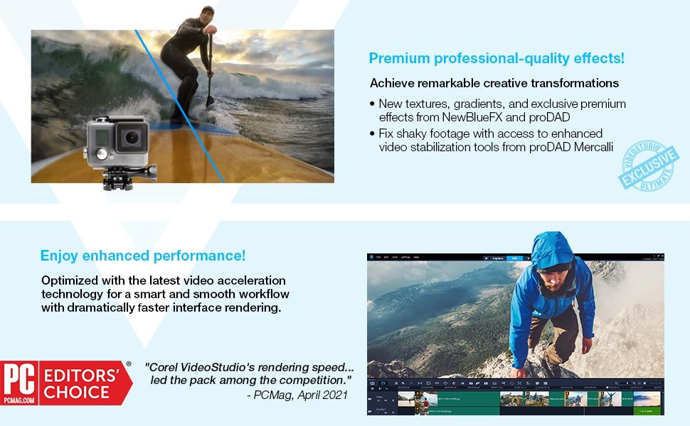 Premium professional-quality effects! PCMag Editorsamp;#39; Choice Award