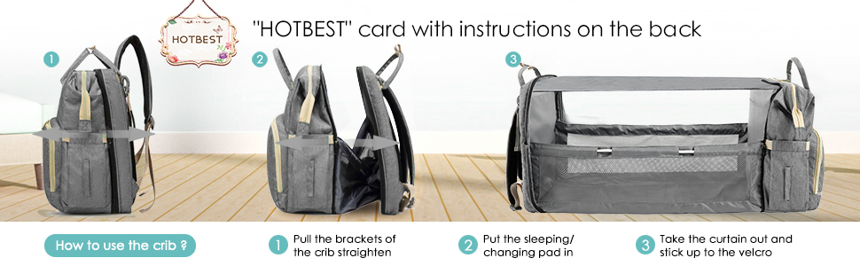 diaper bag backpack with bassinet