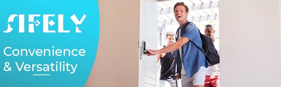 smart lock with happy customers