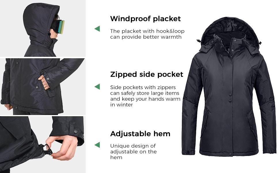 Wantdo Women's Waterproof Winter Coat