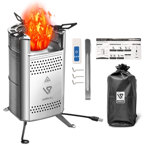 Camping Stove Wood Burning Camp Stoves, Compact Camp Stove Kit Portable Lightweight Firepit Stoves