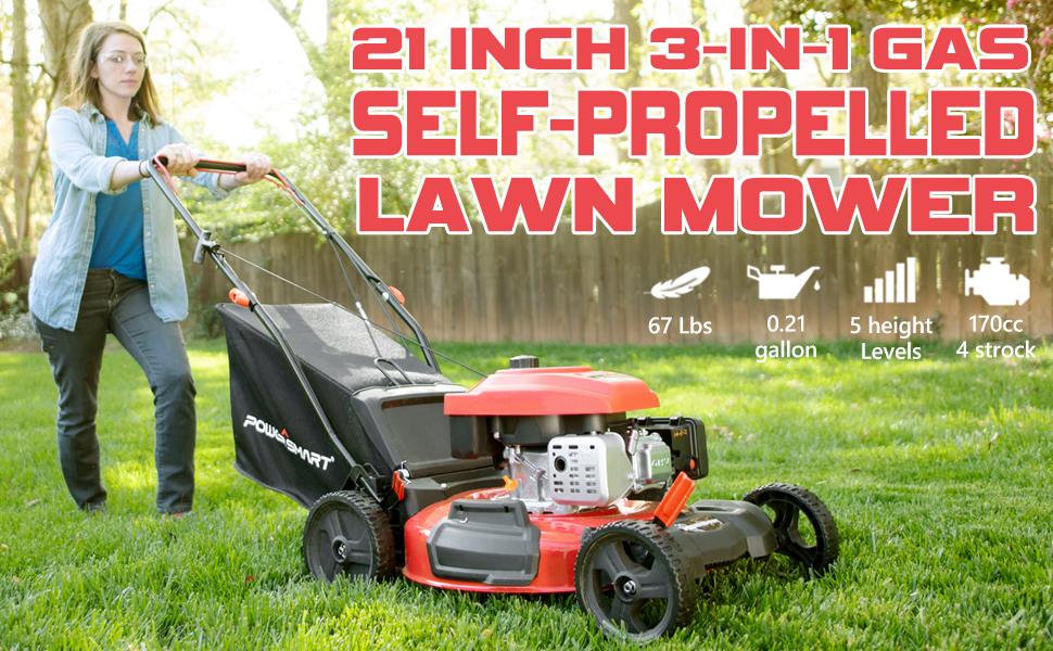 Self Propelled Lawn Mower PowerSmart