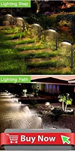 4 Pack Solar Pathway Light
