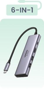 USB C Hub 6 in 1