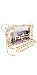 gold cage purse