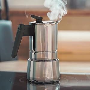 steelmoka caffettiera induzione