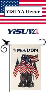 YISUYA Independence Day freedom boots garden flag