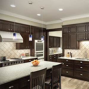 Kitchen featuring HALO SMD lighting
