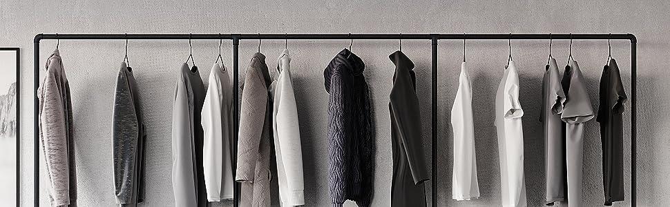 Kledinghaak kledinghanger hanger haak meubilair stijl interieur design kleding rek waterpijpen