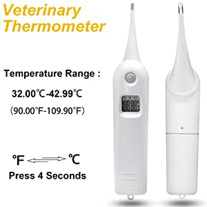 veterinary thermometer for dogs, veterinary thermometer for large animals,