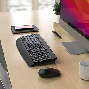 KS65 Ergonomic Wireless Keyboard and Mouse