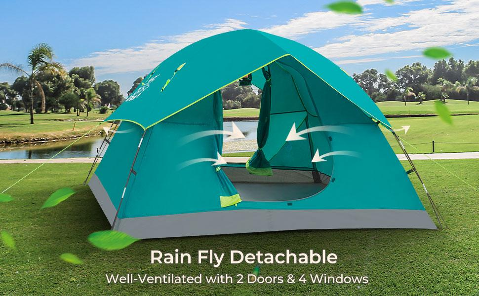 caping tent with rain fly