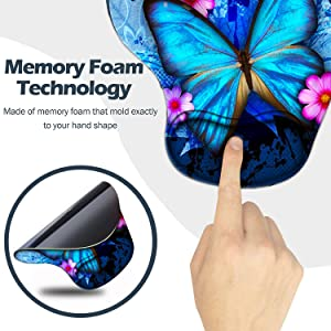 mouse pad ergonomic wrist support