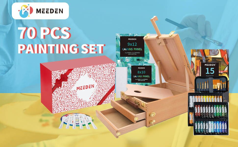 painting set wooden box