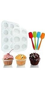 muffin pan baking pan sets scrapers spatulas