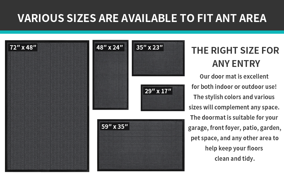 various sizes