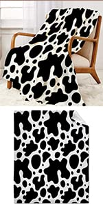 Cow Pattern Throw Blanket Super Soft Warm and Comfortable
