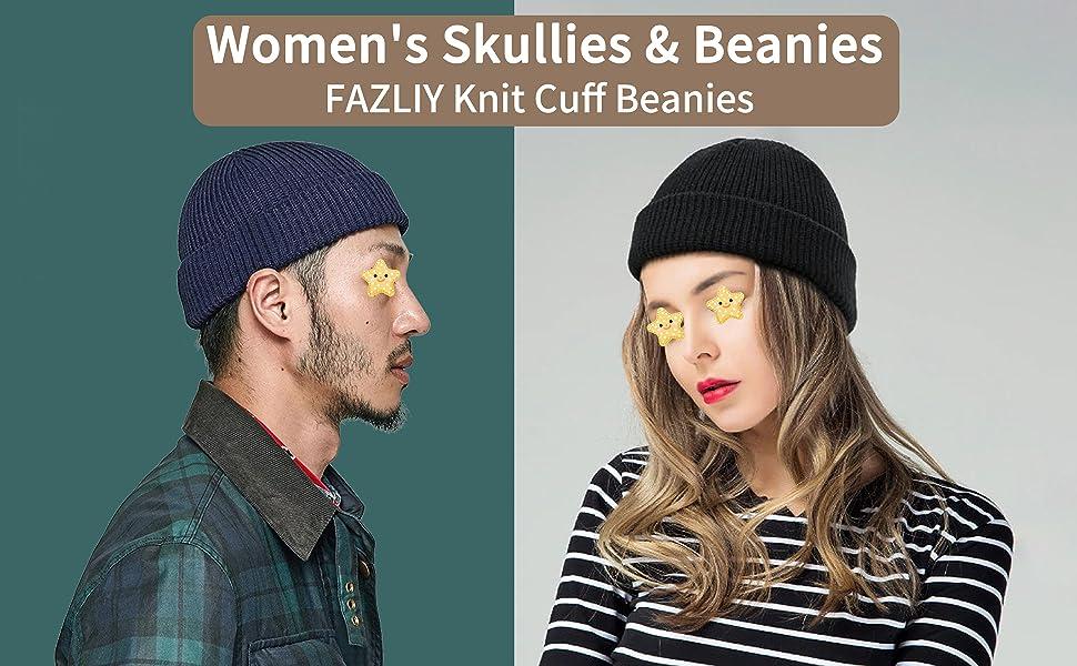 Knit Cuff Cap for Women Men