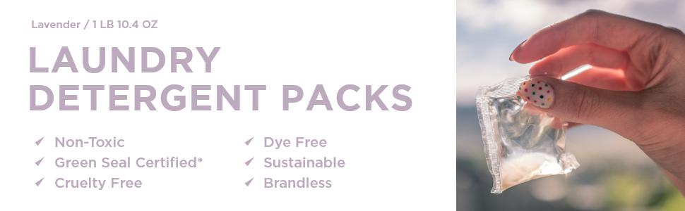 Laundry Detergent pod packs
