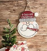 Santa days until Christmas countdown wall decor