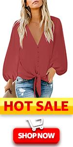 Casual Long Sleeve tops ballon sleeve loose t shirts Cute Blouses for Women