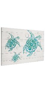 turtle cancas wall art