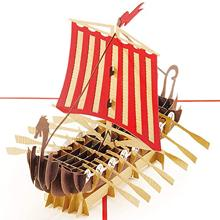 PopLife Warrior Viking Ship 3D Pop Up Card for All Occasions