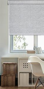 GoDear Design FreeStop Cordless Roller Shade Blind, Sparkling, Gray Diamond Silver