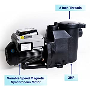 Blue Torrent Cyclone 2 HP Variable Speed Motor Pump for In Ground Swimming Pools