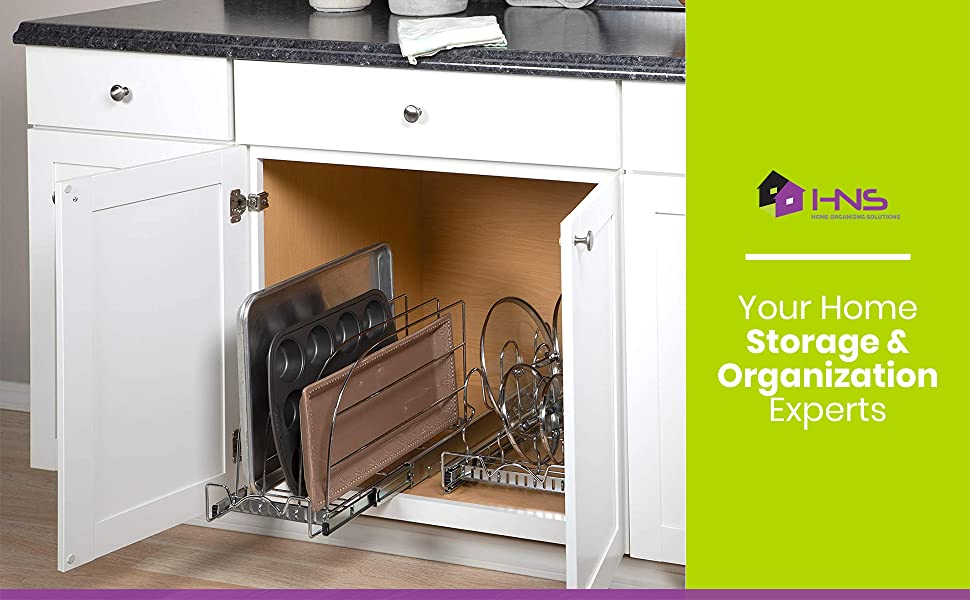cookie sheet organizer rack for cabinet