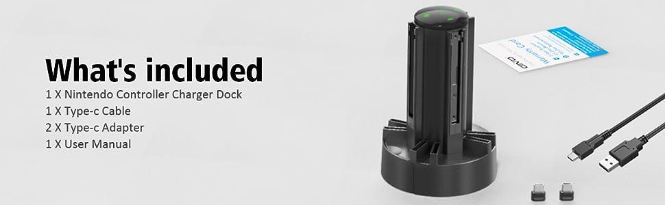 Nintendo charger dock station