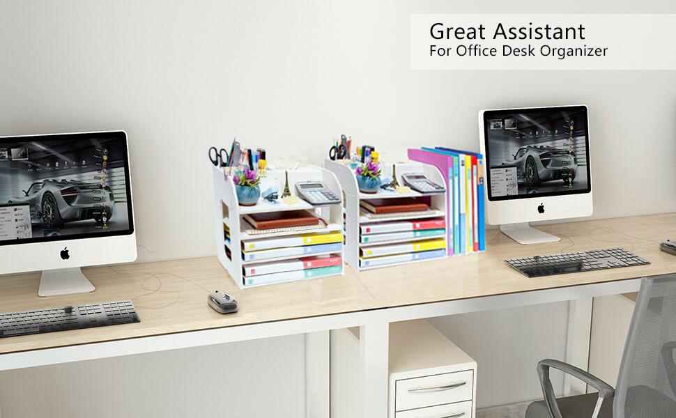 Multifunctional Desktop Organizer Letter amp; File Organizers