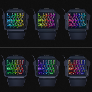 Seven single colors and one mixed color switch