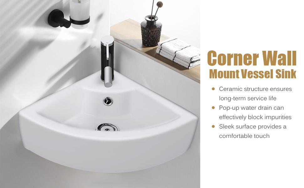Wall Mount Bathroom Vessel Vanity Sink