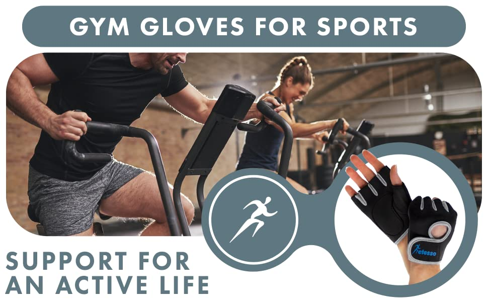Neoprene Gym Gloves for sports. Support for an active life